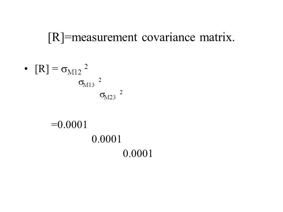 [R]=measurement covariance matrix.